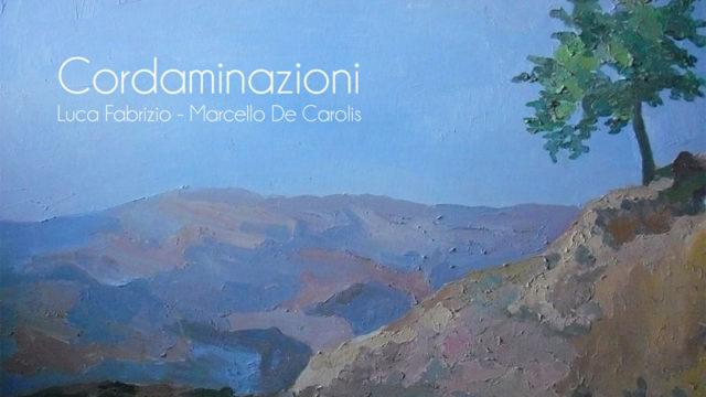 copertina del singolo albero solitario composto dal maestro Angelo Gilardino per il duo cordaminazioni (Marcello De Carolis chitarra battente e Luca Fabrizio chitarra classica) raffigurante il quadro albero solitario della pittrice lucana Maria Padula