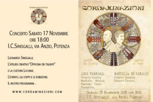 Concerto cordaminazioni: duo musicale lucano, della basilicata, specializzato in: chitarra classica, chitarra battente, mandolino, mandola, cuatro, charango, cavaquinho.