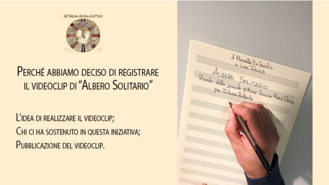 L'idea di registrare il videoclip di albero solitario - omaggio alla grande pittrice lucana maria padula per chitarra battente e chitarra classica composto dal maestro angelo gilardino