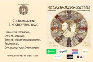 Il cd Cordaminazioni che contiene musica per Chitarra Classica Chitarra Battente Mandolino Mandola Cuatro Charango e Cavaquinho