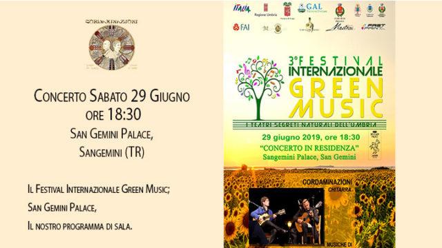 Concerto a Sangemini del duo cordaminazioni (Luca Fabrizio e Marcello De Carolis) nell'ambito del Festival Internazionale Green Music