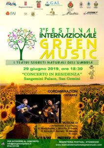 Cordaminazioni in concerto a San Gemini per il Green Music con Chitarra classica chitarra battente mandolino mandola cuatro charango e cavaquinho