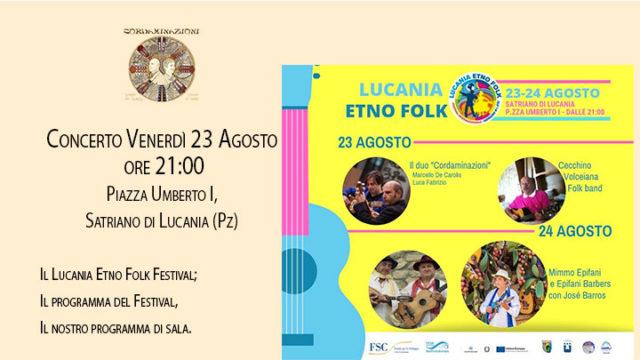 Il Lucania Etno Folk 2010 con il concerto di Cordaminazioni (Luca Fabrizio e Marcello De Carolis)