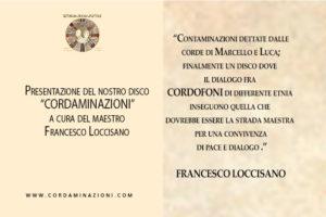 Francesco Loccisano presenta il disco Cordaminazioni del duo di Luca Fabrizio e Marcello De Carolis