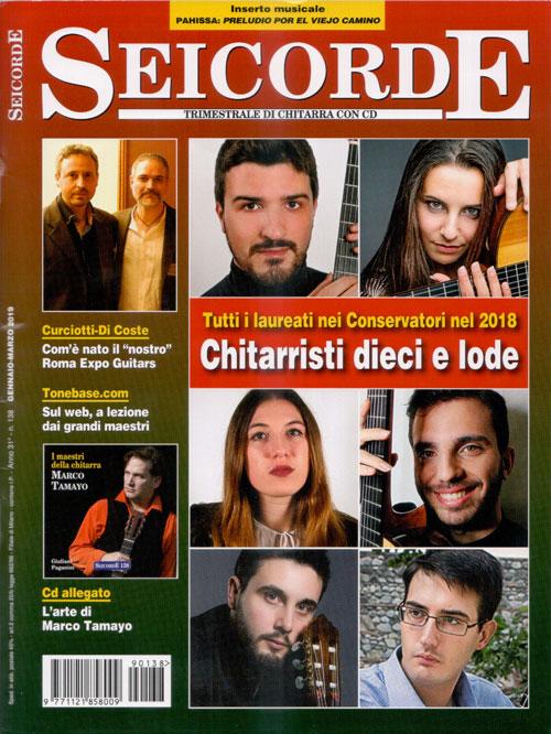 Copertina della rivista chitarristica seicorde