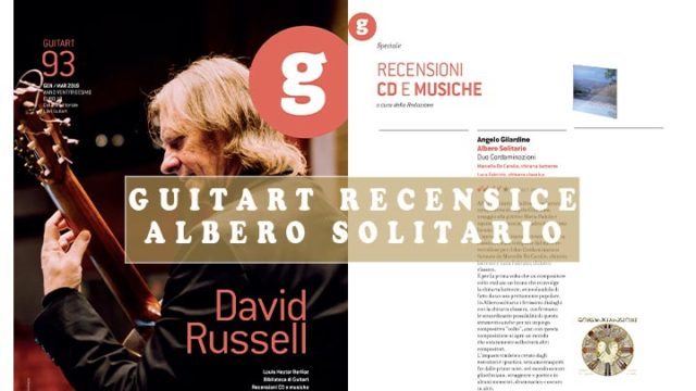 Recensione Guitart su Albero Solitario - ricordo della grande pittrice lucana Maria Padula per chitarra battente e chitarra classica composto dal maestro Angelo Gilardino